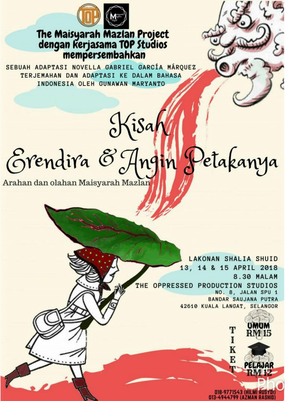 2018 Kisah Erendira & Angin Petakanya cover