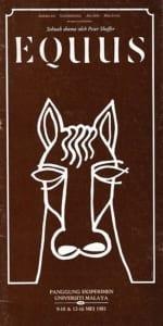 1981, Equus: Programme Cover