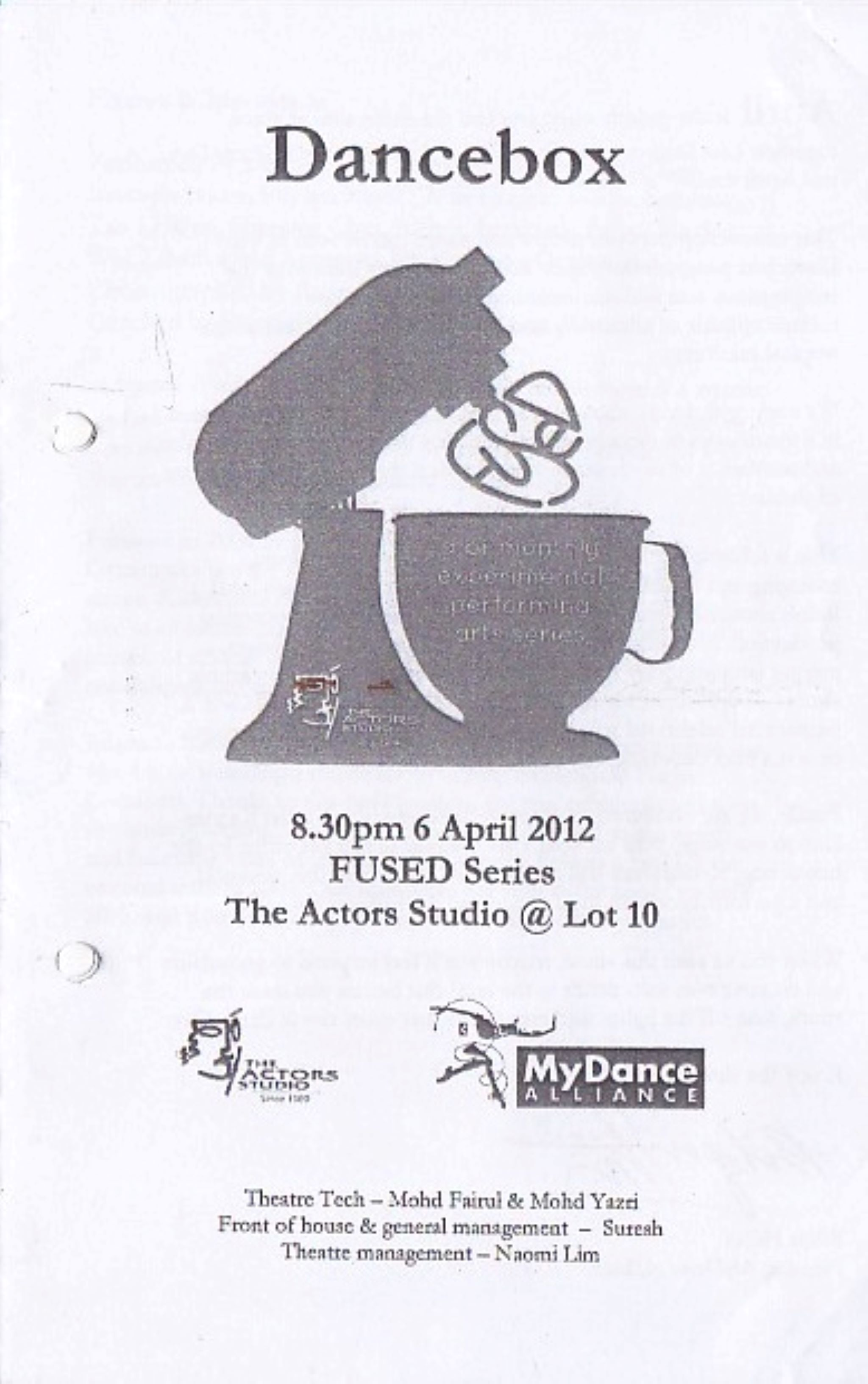 April 2012 Dancebox Cover