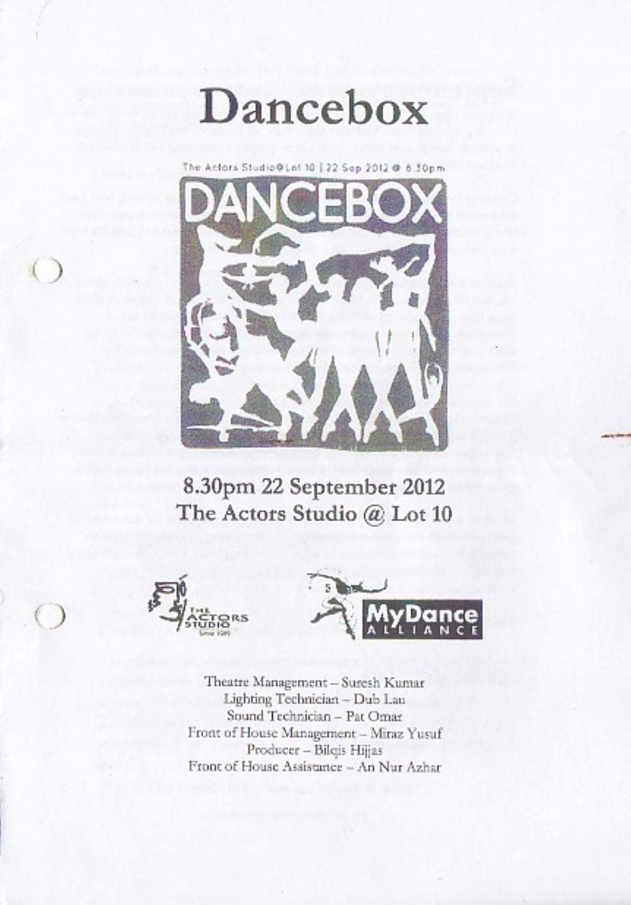 September 2012 Dancebox Cover