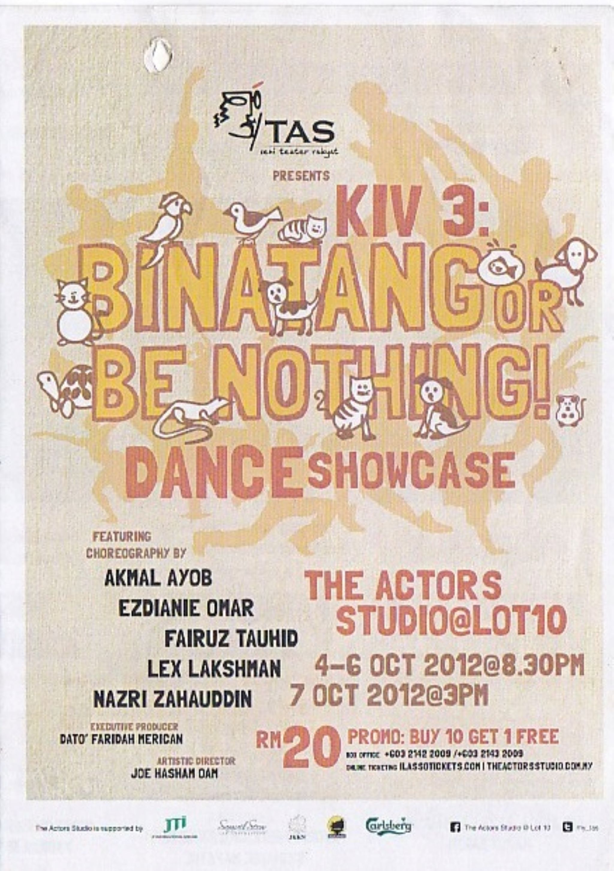 2012 KIV 3: Binatang or be nothing Cover
