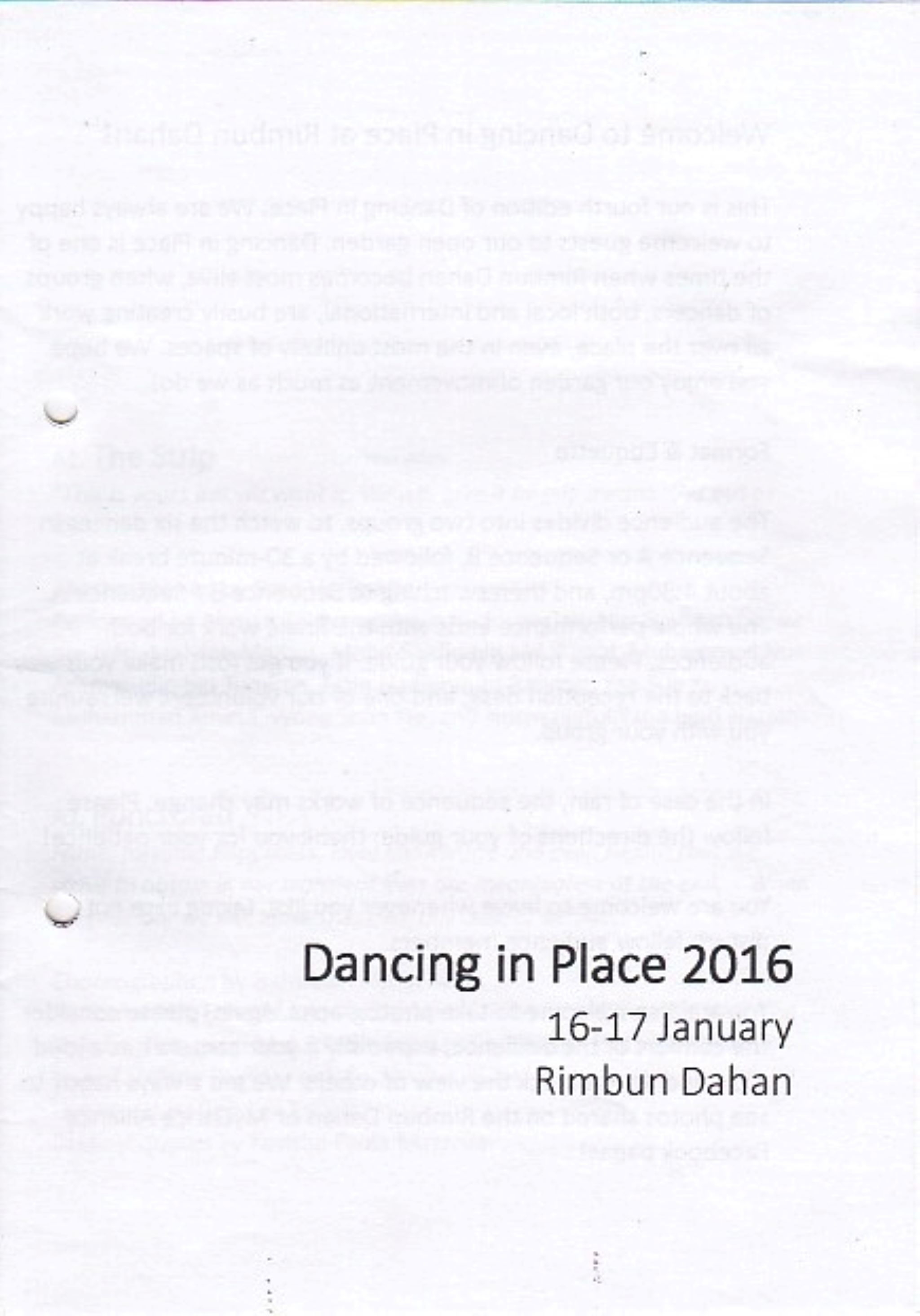 2016 Dancing in Place-Rimbun Dahan Cover
