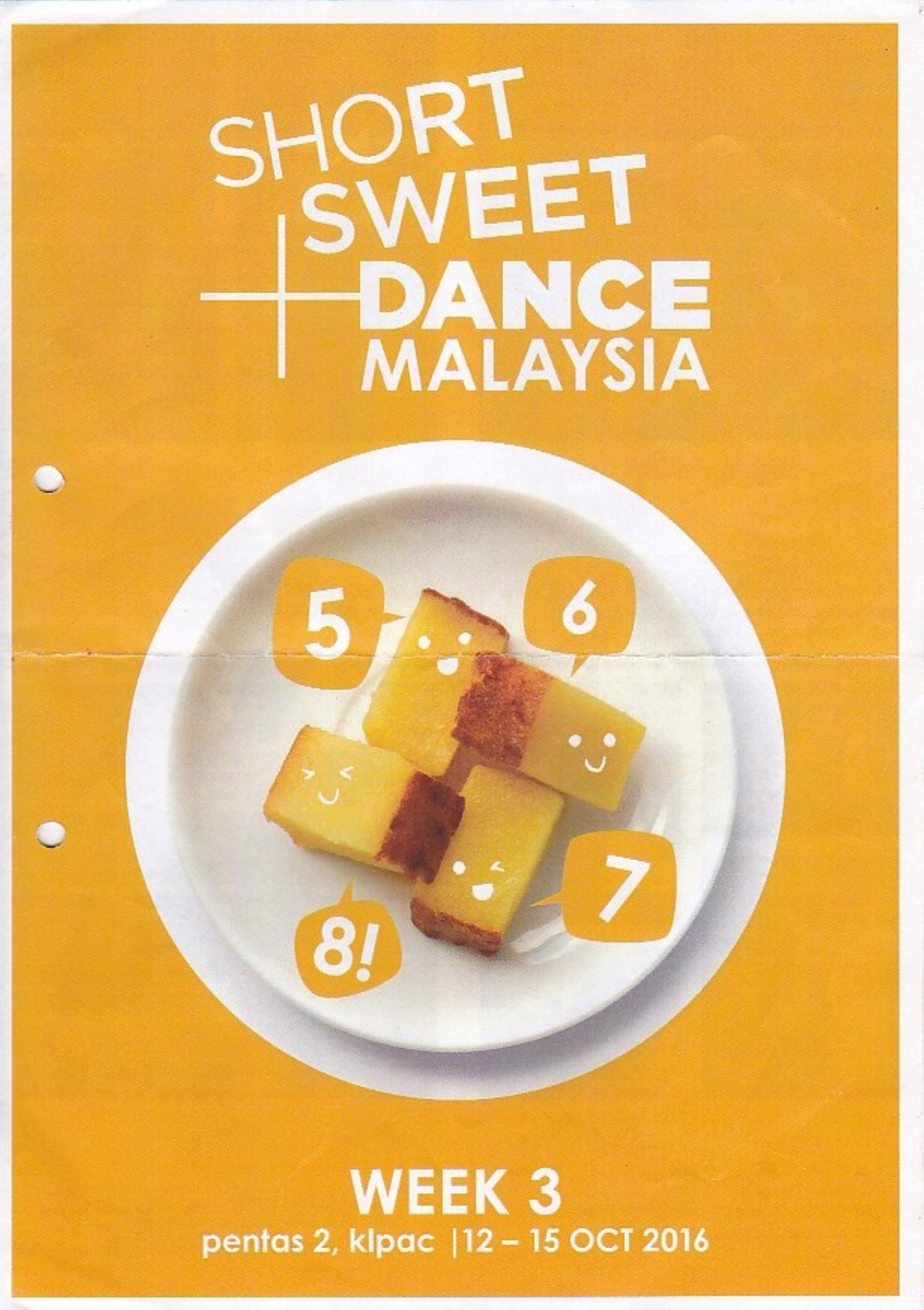 2016 Short+Sweet Malaysia: Dance: Week 3 Cover