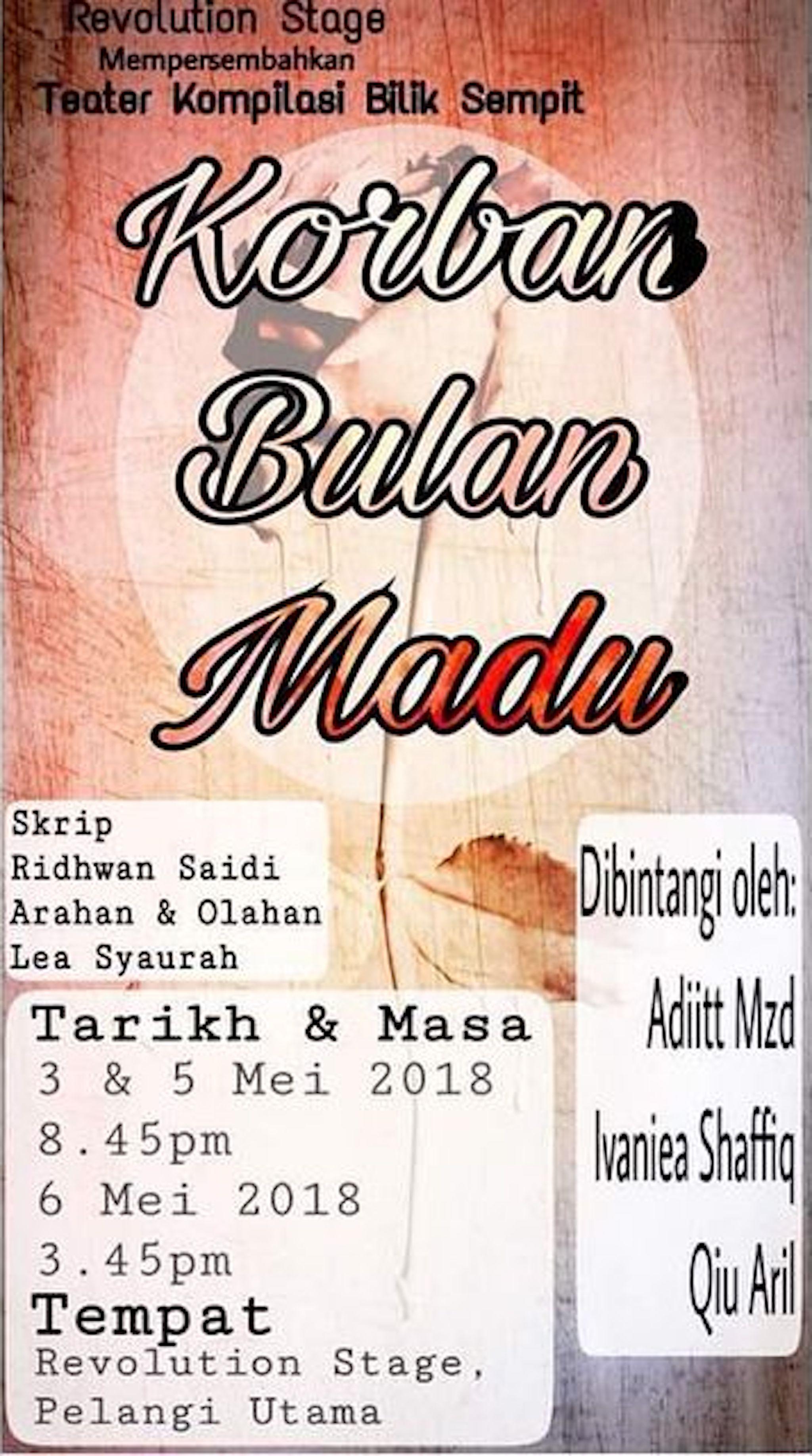 2018 Teater Kompilasi Bilik Sempit Korban Bulan Madu cover
