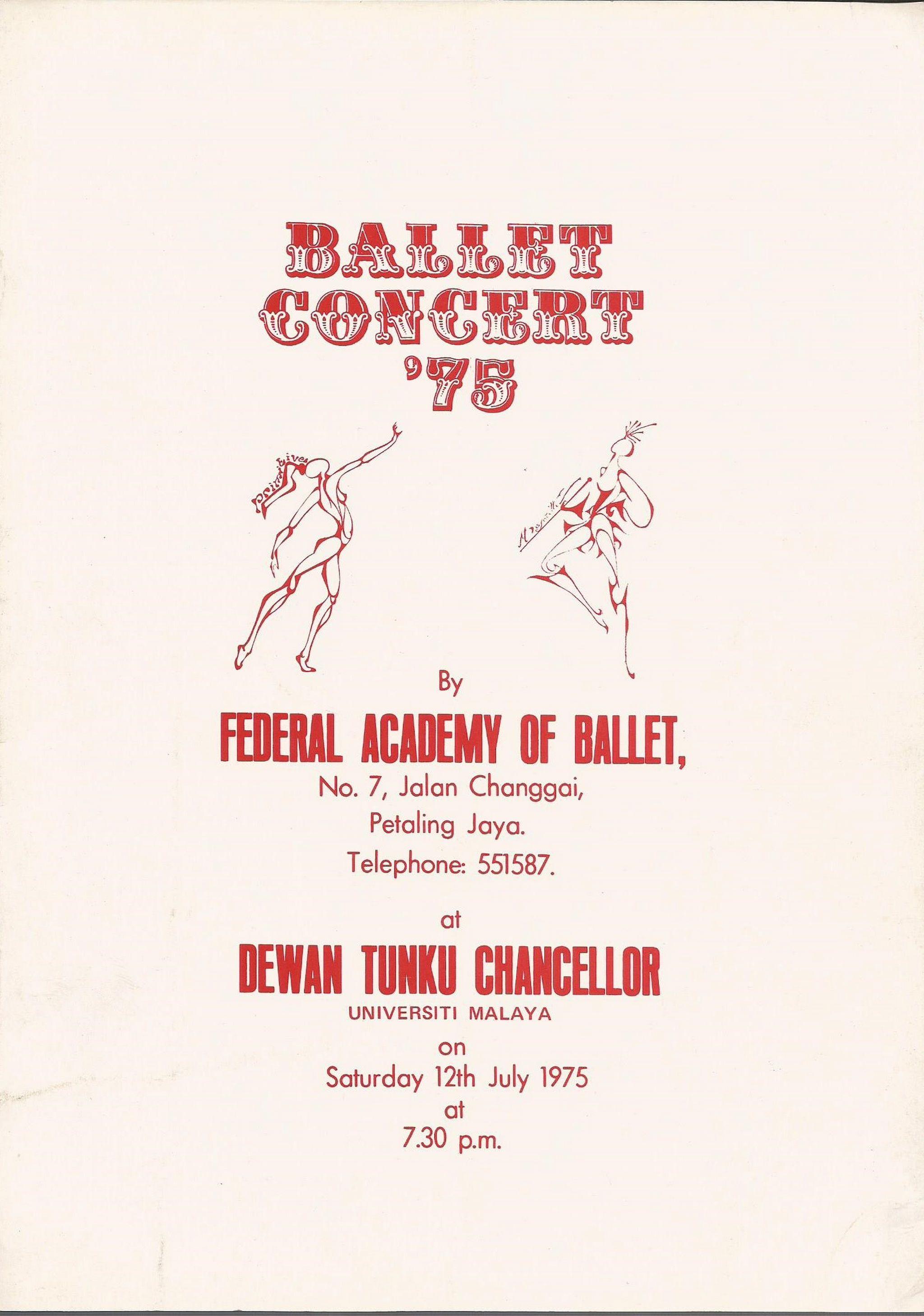 1975 Ballet Concert75 Cover