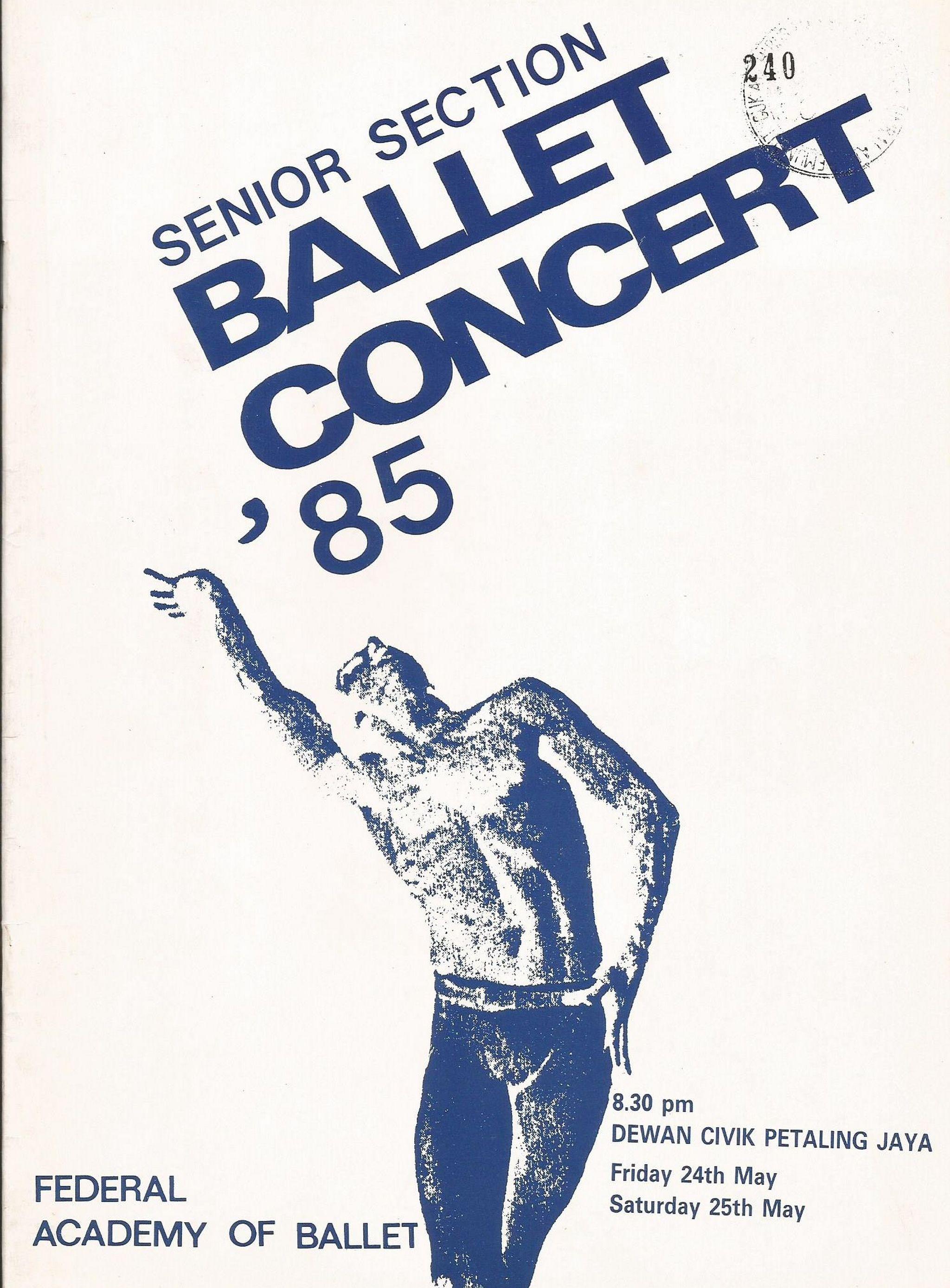 1985 Ballet Concert85 Senior Cover