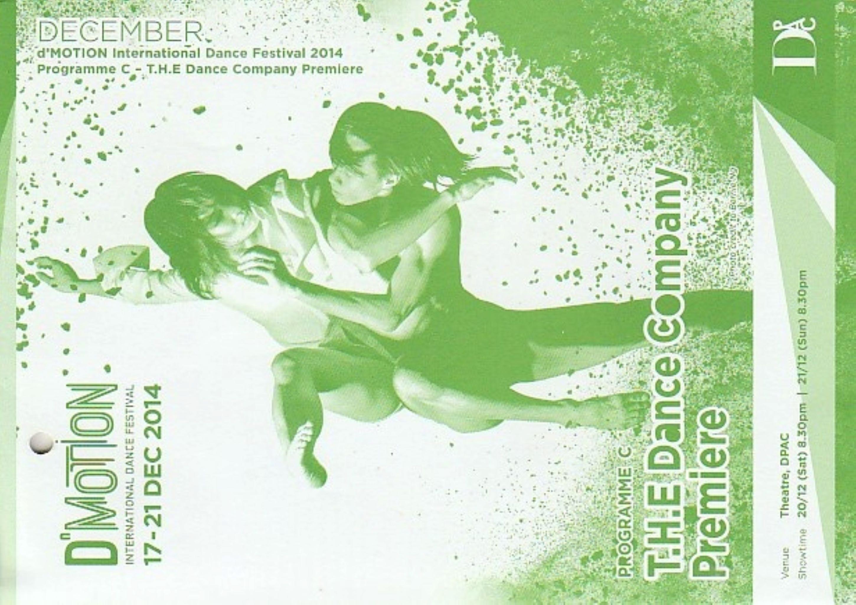 2014 DMotion Programme C T.H.E Dance Company Premiere Cover