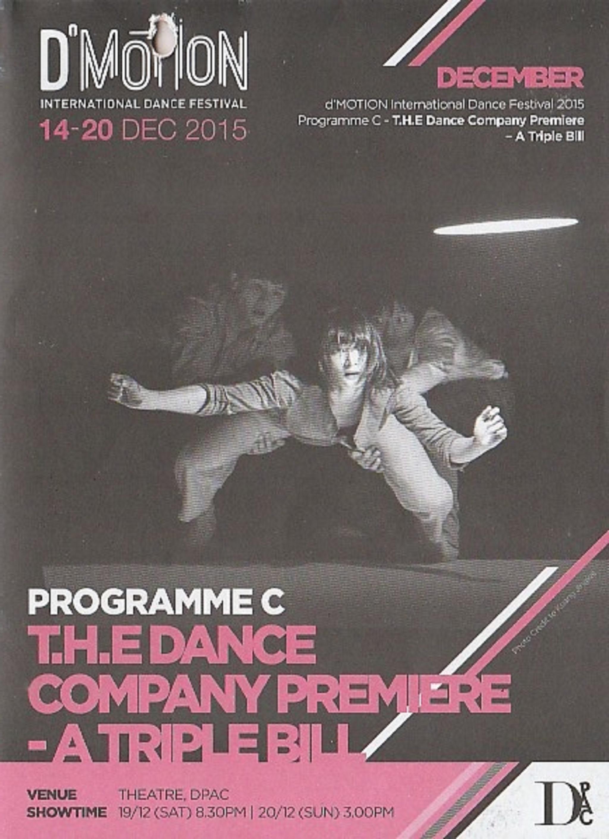 2015 DMotion Programme C T.H.E Dance Company Priemiere A Triple Bill Cover